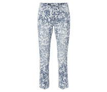 Straight Fit Jeans mit floralem Muster
