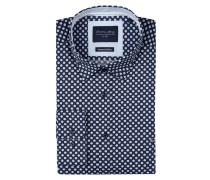 Freizeithemd in schmaler Passform mit Under-Button-Down-Kragen