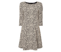 Kleid mit ornamentalem Webmuster