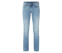Straight Fit Jeans mit Stretch-Anteil