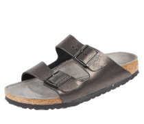 Sandalen 'Arizona' aus Leder in Metallicoptik