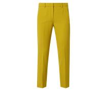 Slim Fit 7/8-Hose mit Bügelfalten