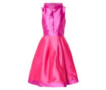 Two-Tone-Kleid mit gelegten Falten