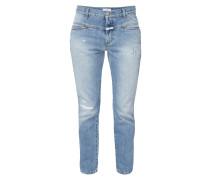 Cropped Boyfriend Jeans im Destroyed Look