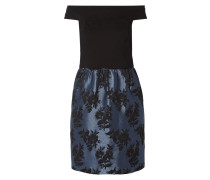 Off Shoulder Cocktailkleid mit Jacquardmuster