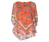 Blusenshirt aus Chiffon mit Fledermausärmeln