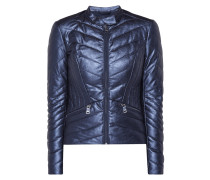Steppjacke in Metallicoptik mit Wattierung