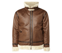 Jacke in Shearling-Optik
