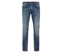 Stone Washed Super Slim Fit 5-Pocket-Jeans