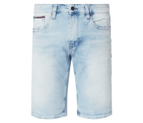 Bleached Tapered Fit Jeansshorts