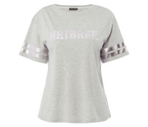 T-Shirt mit Print in Metallicoptik