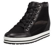 High Top Sneaker aus Leder und Mesh