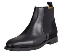 Chelsea Boots aus Leder mit Fellbesatz