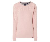 Sweatshirt mit Lochstickereien