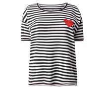 Shirt mit Herz-Aufnäher