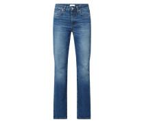 High Waist Flared Jeans aus Baumwolle Modell 'Leaf'