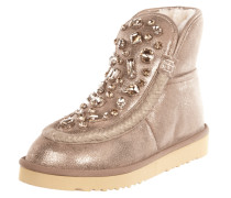 Lederboots in Metallicoptik