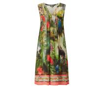 Kleid aus Chiffon mit exotischen Prints