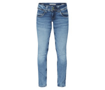Low Waist Straight Fit Jeans mit Knopfleiste