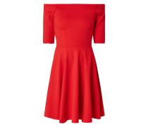 Off Shoulder Kleid mit 1/2-Arm