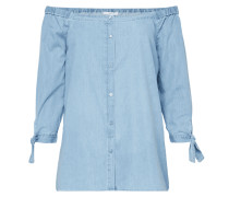 Off Shoulder Bluse in Denimoptik