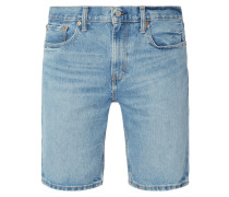 Stone Washed Regular Tapered Fit Jeansshorts