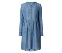 Kleid aus Lyocell in Denim-Optik