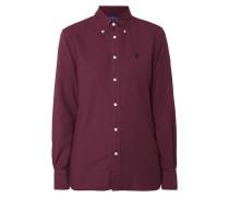 Bluse mit Button-Down-Kragen