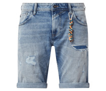 Regular Fit Jeansshorts mit Stretch-Anteil