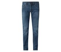 Slim Fit Jeans mit Stretch-Anteil Modell 'Bleecker'