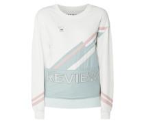Sweatshirt 'SPORTY LOGO SWEATER' mit Zierstreifen und Nylonanteil