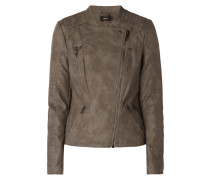 Biker-Jacke in Leder-Optik