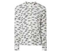 Blusenshirt aus Viskose-Seide-Mix