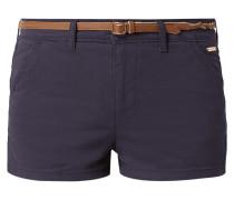 Shorts mit Flechtgürtel