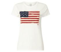 T-Shirt mit Motiv-Aufnäher