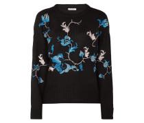 Pullover mit floralen Stickereien