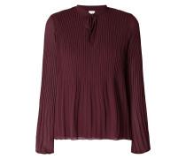 Blusenshirt aus Chiffon mit Plisseefalten