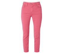 Coloured Slim Fit Jeans in 7/8-Länge