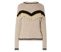 Pullover mit Samtgarn und Effektgarn
