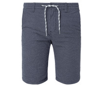 Slim Fit Chinoshorts mit Tunnelzug