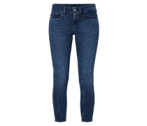 Stone Washed Cropped Super Skinny Fit Jeans