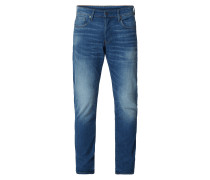 Straight Tapered Fit Jeans im Used Look - sustainable