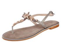 Sandalen mit floralen Applikationen aus Ziersteinen