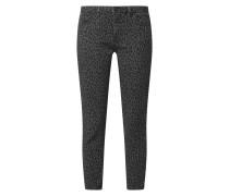 Slim Fit Jeans mit Animal-Print