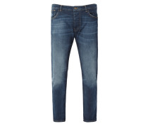 Stone Washed Jeans mit Used-Effekten