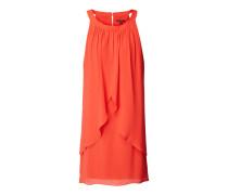 Kleid aus Chiffon mit Volantbesatz