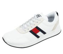 Sneaker aus Textil und Veloursleder