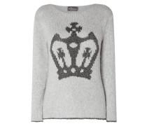 Pullover mit Motiv aus Effektgarn