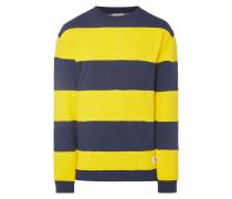 Relaxed Fit Sweatshirt mit Blockstreifen