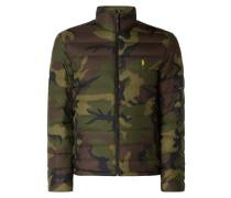 Daunenjacke mit Camouflage-Muster